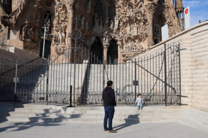 The doors of the Sagrada Família, one of Barcelona's most crowded spots, have been shut since mid-March (by Mar Vila)