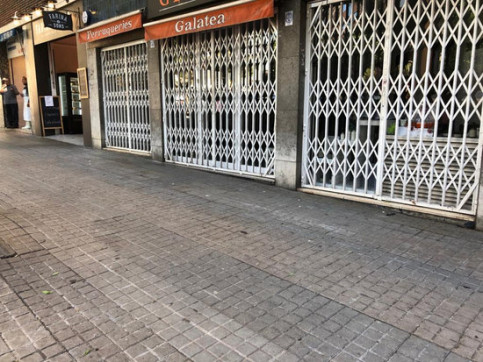 Image of the location where the body of a fourth homeless man was found during lockdown in Barcelona, April 28, 2020 (by Xavier Alsinet)