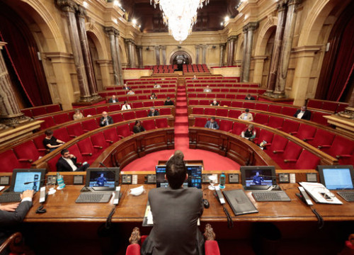 Catalan parliament, May 21, 2020 (Job Vermeulen / Parlament)