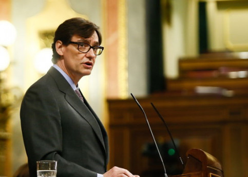 Spanish health minister Salvador Illa speaking in Congress in June, 2020 (image courtesy of Spanish Congress)