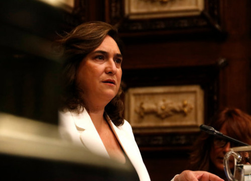 Barcelona mayor Ada Colau during a city council plenary session in June, 2020 (by Blanca Blay)