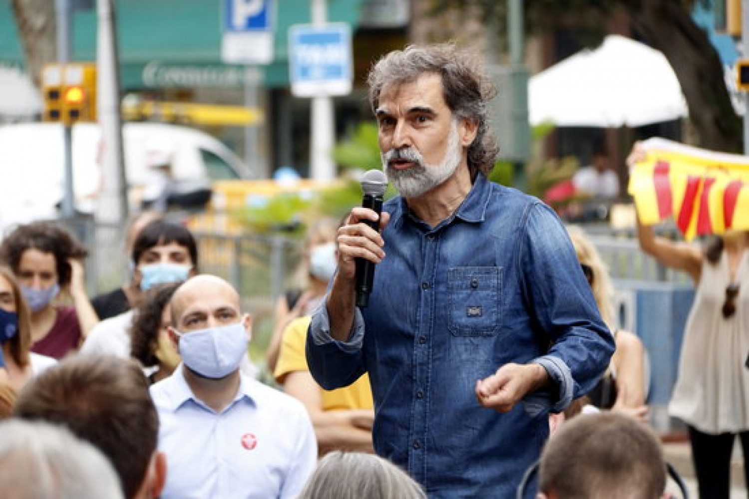 Jordi Cuixart during temporary release from prison, July 17, 2020 (by Guillem Roset)