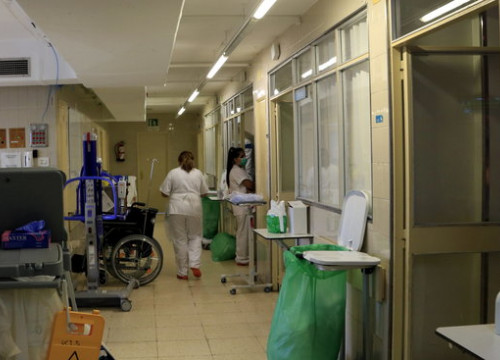 Hospital area for semi-critical patients in Vall d'Hebron, Barcelona, on July 22, 2020 (by Laura Fíguls)