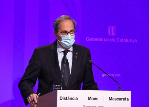 Catalan president Quim Torra (by Mariona Puig)