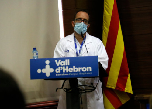 Pere Soler, head of the Pediatric Infectious Diseases unit at Vall d'Hebron Hospital (by Blanca Blay)