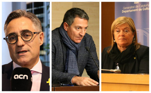 Economist Ramon Tremosa, the new Business minister; lawyer Miquel Sàmper, the new Interior minister; and university professor Àngels Ponsa, the new Culture minister (by Blanca Blay/ Norma Vidal/Mar Vila)