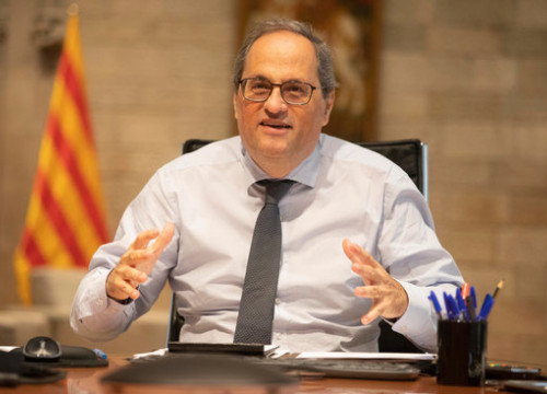 Catalan president Quim Torra at the government headquarters (by Marta Sierra)
