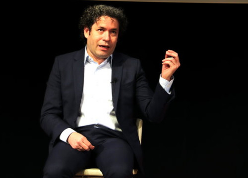 Venezuelan conductor Gustavo Dudamel at the launch of 'Symphony' in CosmoCaixa Barcelona, September 15, 2020 (by Natàlia Costa)