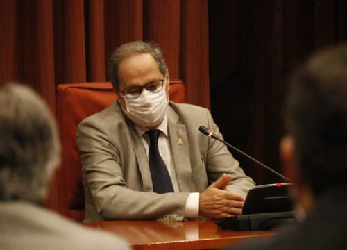 Catalan president Quim Torra photographed in the Catalan parliament, September 2020 (by Gerard Artigas)