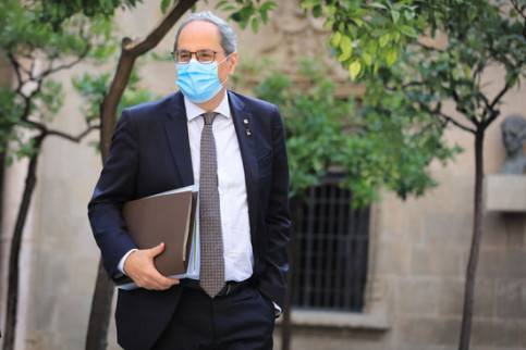 Catalan president Quim Torra in the government headquarters (by Jordi Bedmar-Catalan government)
