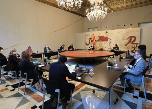 The Catalan government holding an emergency meeting on Friday (by Jordi Bedmar/Presidència)
