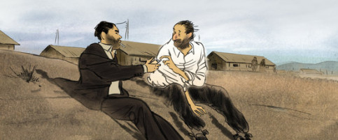 A still from the film 'Josep' by French illustrator Aurel (image from ImagicTV)