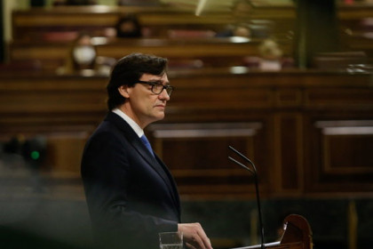 Spain's health minister, Salvador Illa, defending the state of alarm in Congress on October 29, 2020 (by Spanish Congress)