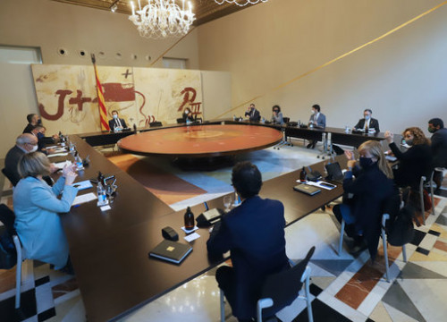 Catalan government holding a cabinet meeting ( by Rubén Moreno-Generalitat de Catalunya)