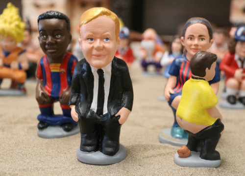 Caganer figures including FC Barcelona player Ansu Fati and coach Ronald Koeman, November 3, 2020 (by Gemma Tubert)