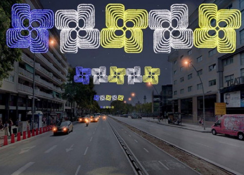 Virtual image of how Christmas lights in Barcelona will look in 2020 (by Barcelona local council)