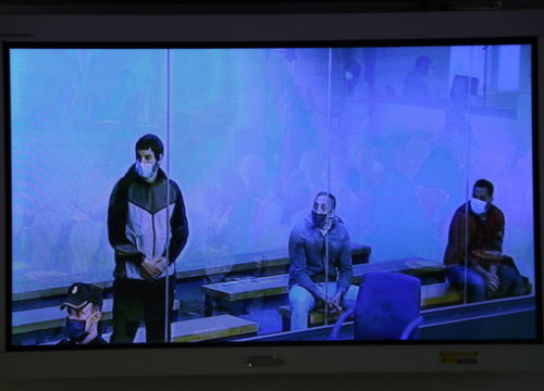 Three suspects for the 2017 Barcelona terror attacks face trial in Spain's National Court. From left to right: Mohamed Houli, Driss Oukabir, and Saïd ben Iazza (by ACN)