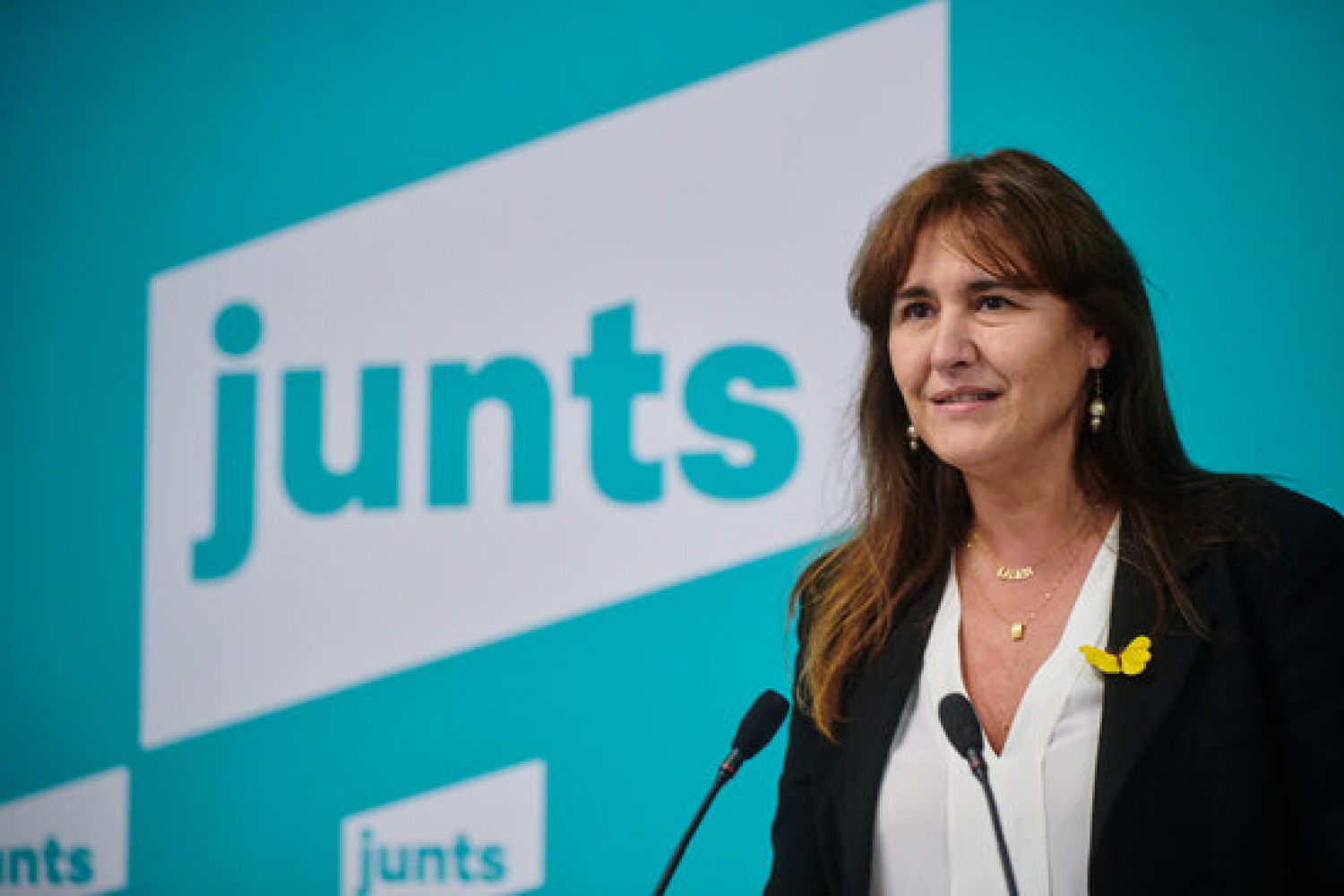 Junts per Catalunya's presidential candidate for February 2021 elections, Laura Borràs, November 29, 2020 (Image: JxCat)