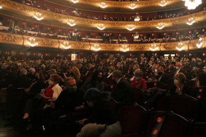 The Liceu audience at 50% capacity, before the opening night performance of 'La Traviata', December 14, 2020 (by Pau Cortina)