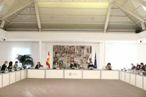 Council of Ministers of the Spanish government meet in January 2021 (by Pool Moncloa / Fernando Calvo)