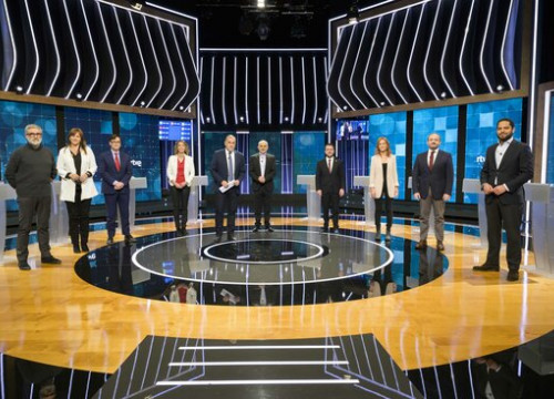 Candidates for the Catalan elections at the RTVE debate on January 31, 2021 (by RTVE)