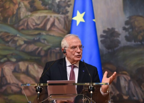 High Representative of the European Union Josep Borrell during the February 5, 2021 press conference with Russia's foreign minister, Sergey Lavrov (Source: European Commission)