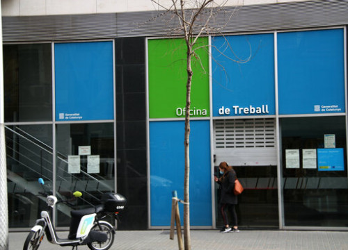 An unemployment office in the city of Barcelona (by Ivette Lehmann)