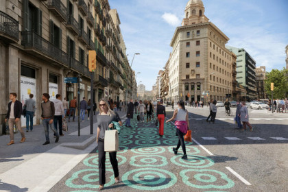 Pelai street in Barcelona city undergoing works to become more pedestrianised (courtesy of Barcelona local council)