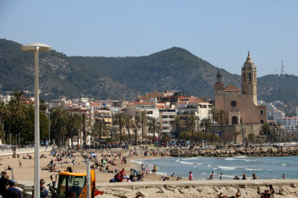 Image of Sitges beach on March 28, 2021 (by Gemma Sànchez)
