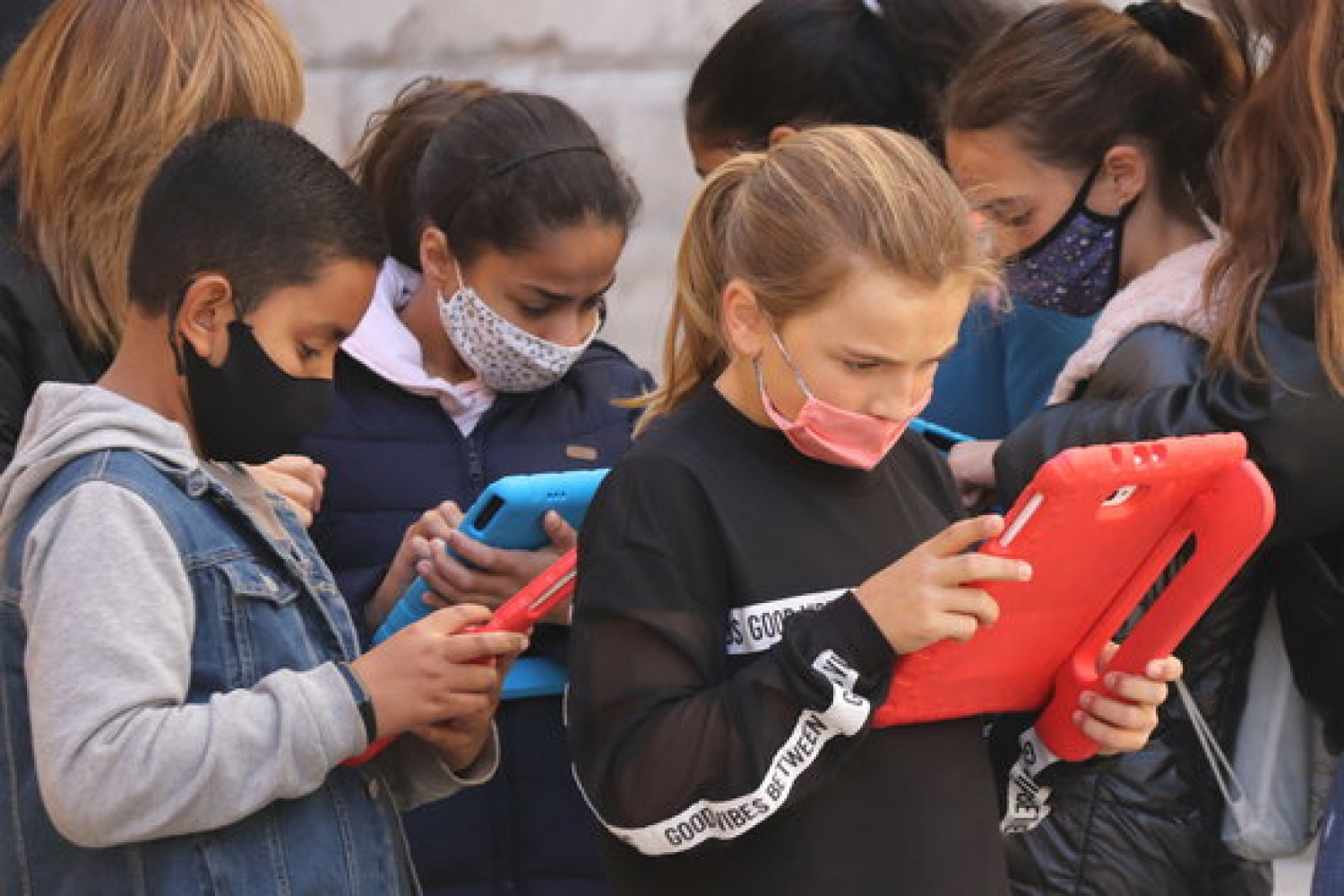 Students from the Saavedra school in Tarragona participate in the mEDU Tarraco project (by Eloi Tost)