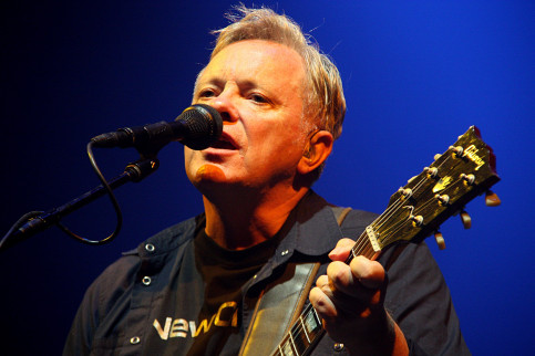New Order's singer, Bernard Sumner during the band's last performance at Sónar Festival, in 2012 (by ACN)