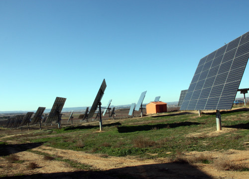 Solar panels in Torres de Segre, west of Barcelona.