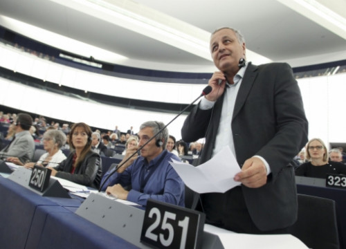 Leader of the European Free Alliance party and former MEP François Alfonsi in the European Parliament (by EP)