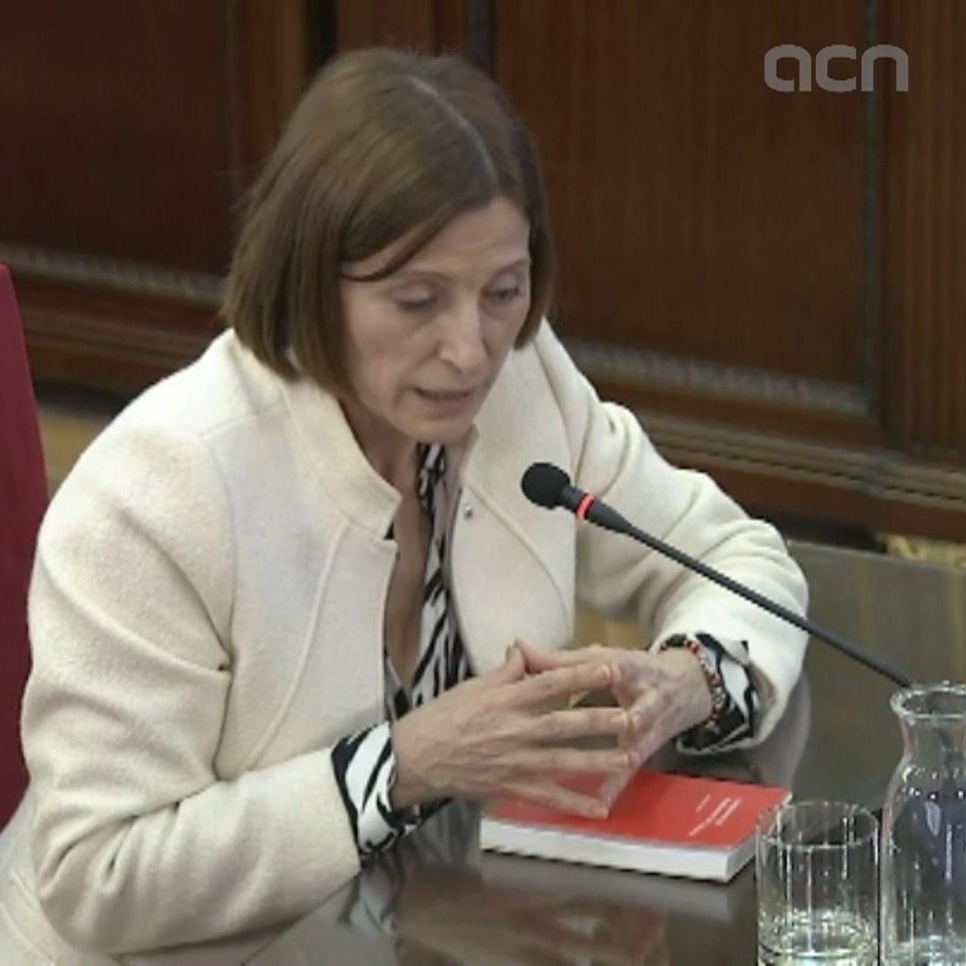 'I consider voting to not be a crime,' says Forcadell in court