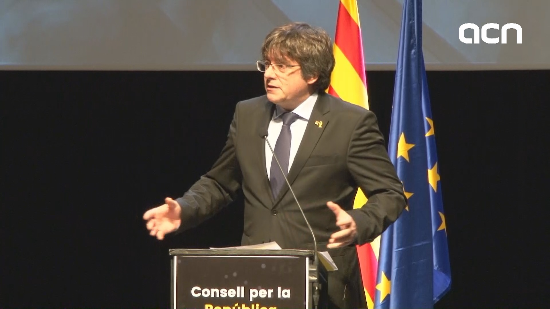 Carles Puigdemont describes the goals for the Council for the Republic