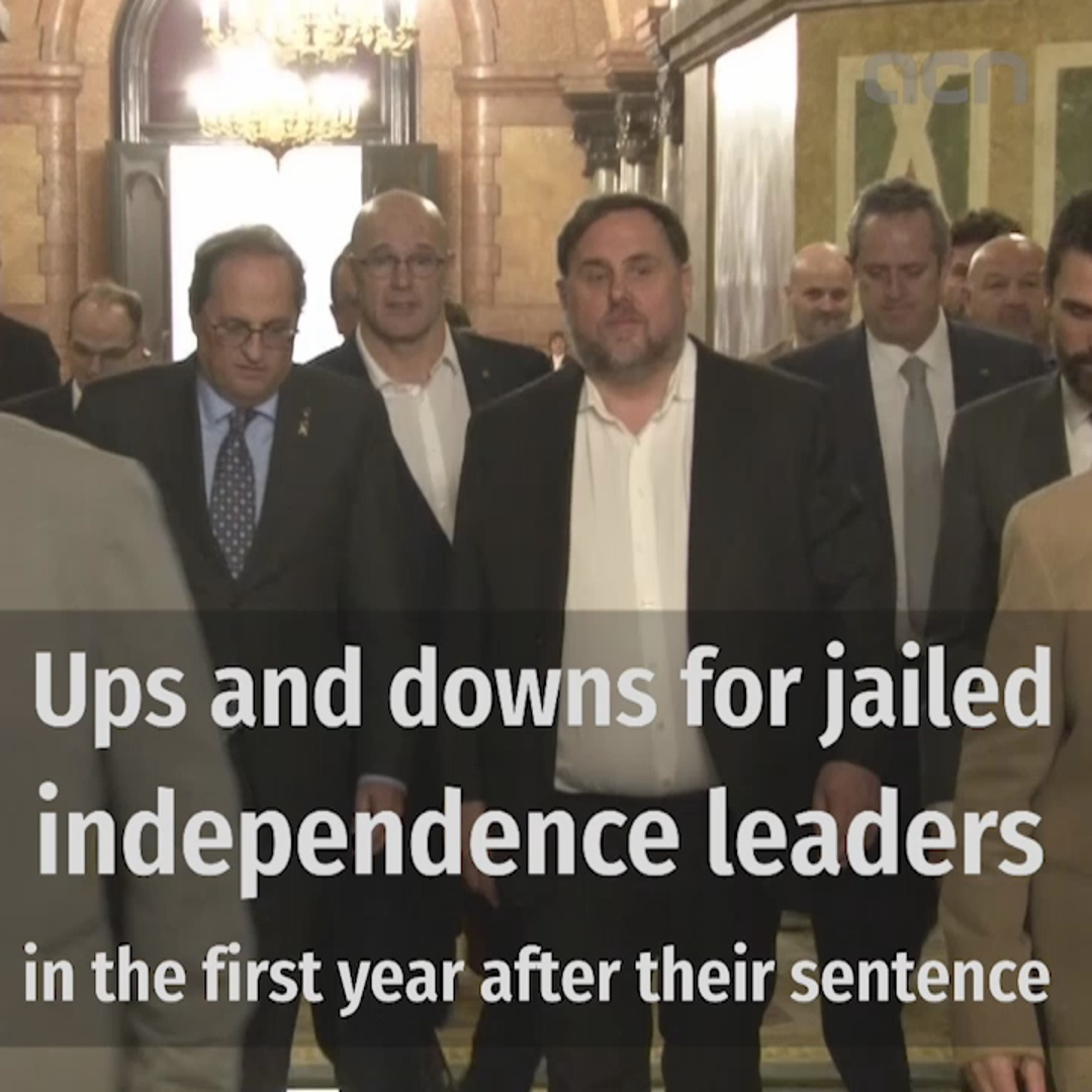 Ups and downs for jailed independence leaders in the first year after their sentence