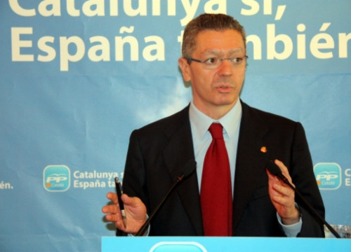 The Spanish Justice Minister, Alberto Ruíz Gallardón, a few weeks ago (by ACN)