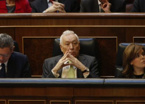 The Spanish Foreign Affairs Minister, José Manuel García-Margallo, at the Spanish Parliament (by ACN)