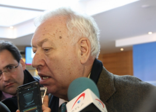 The Spanish Foreign Affairs Minister, José Manuel García Margallo, a few weeks ago (by ACN)