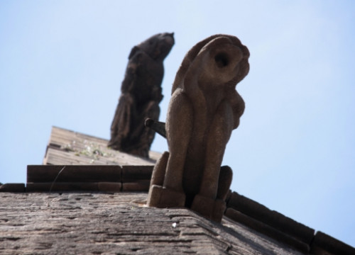 Two of Santa Maria del Mar's gargoyles, the church portrayed in Falcones' first book: 'The Cathedral of the Sea' (by E. Rosanas)