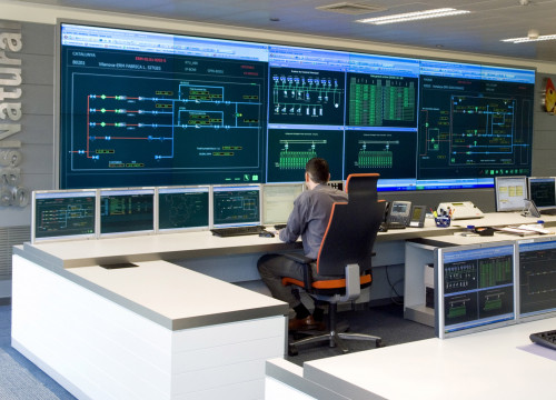 The control room in Gas Natural Fenosa's headquarters, located in Barcelona (by ACN)