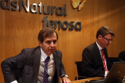Manuel Fernández, Gas Natural Fenosa's Wholesales Director, and Javier Serrano, the new company's Director (by P. Mateu)