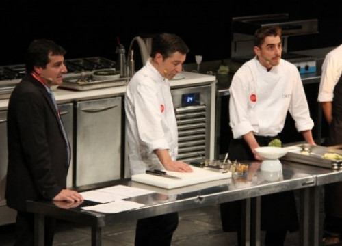 The Roca brothers, owners of the 3-Michelin-Star restaurant El Celler de Can Roca gave a master class (by X. Pi)