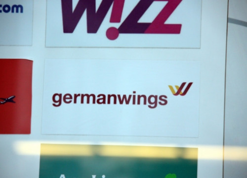 Germanwings logo in Barcelona El Prat Airport (by ACN)