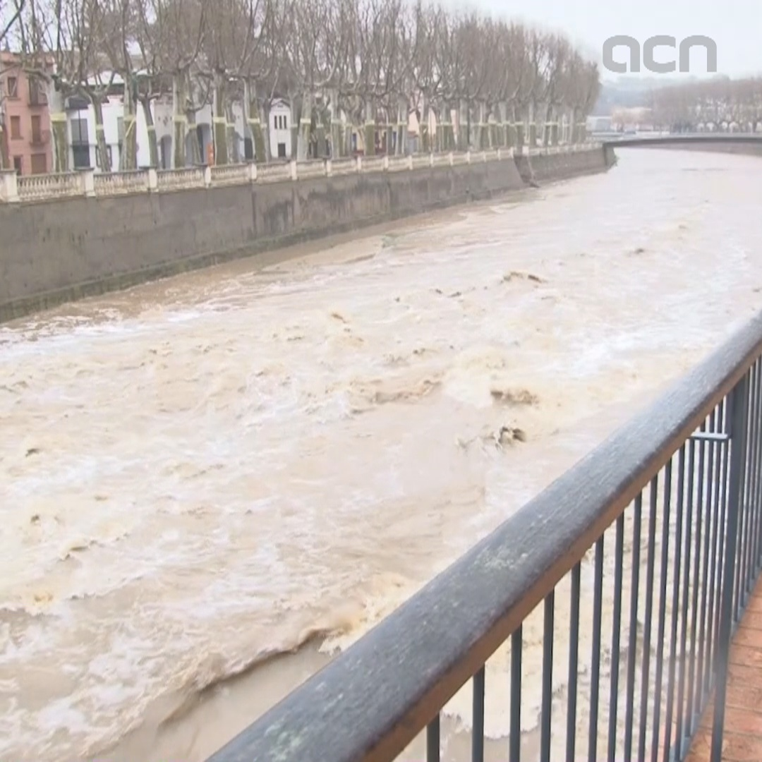 Flood alerts and risk of rivers bursting banks in Girona