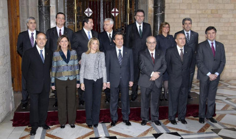 The first group photo of the new Catalan Government (by D. Alonso)