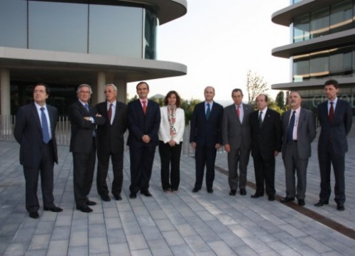 An image from last year's unveilement of Grifols new headquarters in Greater Barcelona (by ACN)