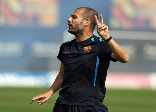 The FC Barcelona manager, Pep Guardiola