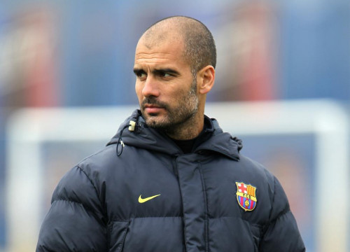 Pep Guardiola in one of Barça's trainings (by FC Barcelona)