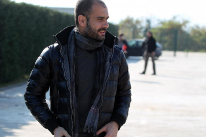 Barça's coach, Pep Guardiola, today (by FC Barcelona)